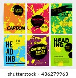 collection of creative artistic ... | Shutterstock . vector #436279963