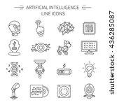 artificial intelligence line... | Shutterstock .eps vector #436285087