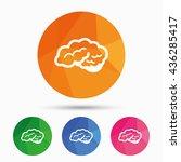 brain with cerebellum sign icon.... | Shutterstock .eps vector #436285417