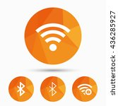 wifi and bluetooth icons.... | Shutterstock .eps vector #436285927
