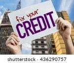 fix your credit placard with... | Shutterstock . vector #436290757