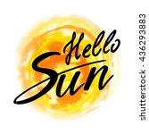 hello sun stylish fun... | Shutterstock .eps vector #436293883