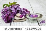 massage and spa products with...   Shutterstock . vector #436299103