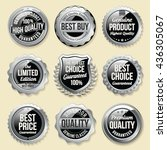 silver shiny luxury badge.... | Shutterstock .eps vector #436305067