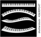 black and white piano keys with ... | Shutterstock .eps vector #436309147
