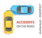 car accident. top view. | Shutterstock .eps vector #436309327