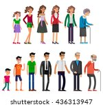 detailed characters people... | Shutterstock .eps vector #436313947