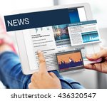 update trends report news flash ... | Shutterstock . vector #436320547