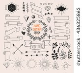 set of vector hand drawn... | Shutterstock .eps vector #436325863