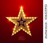 retro light sign. vintage style ... | Shutterstock .eps vector #436325953