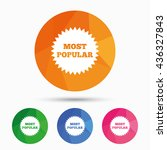 most popular sign icon.... | Shutterstock .eps vector #436327843