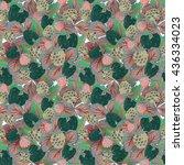 natural organic berries... | Shutterstock .eps vector #436334023