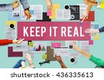 keep it real cool lifestyle... | Shutterstock . vector #436335613