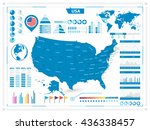 usa map and infograpchic...   Shutterstock .eps vector #436338457