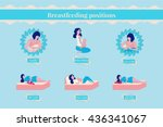 breastfeeding poses  set of