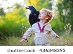Boy And His Crow Friend
