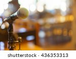 microphone over the abstract... | Shutterstock . vector #436353313