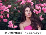 fashion style beauty romantic... | Shutterstock . vector #436371997