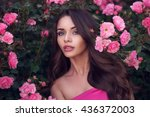 fashion style beauty romantic... | Shutterstock . vector #436372003