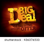 sale big deal typographic... | Shutterstock .eps vector #436376533