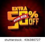 sale concept vector banner. | Shutterstock .eps vector #436380727