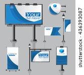 vector outdoor advertising... | Shutterstock .eps vector #436393087