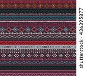 ethnic boho  aztec seamless... | Shutterstock .eps vector #436395877