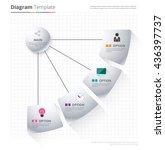 diagram template  organization... | Shutterstock .eps vector #436397737