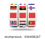 slots with flag of morocco... | Shutterstock . vector #436408267