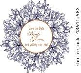 vintage delicate invitation... | Shutterstock .eps vector #436415983