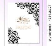 vintage delicate invitation... | Shutterstock . vector #436416127