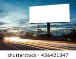 billboard blank for outdoor... | Shutterstock . vector #436421347