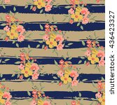 floral seamless pattern on... | Shutterstock .eps vector #436423327