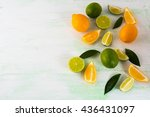 Citrus Fruits Mix On Light...