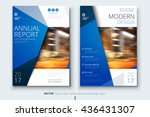 blue corporate business annual... | Shutterstock .eps vector #436431307