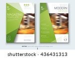 magazine template. corporate... | Shutterstock .eps vector #436431313
