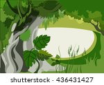 vector image of undergrowth in... | Shutterstock .eps vector #436431427