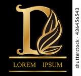 abstract letter d logo design... | Shutterstock .eps vector #436456543