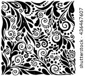 hand drawn ornate background.... | Shutterstock .eps vector #436467607