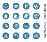 medical and health care icons... | Shutterstock . vector #436468183