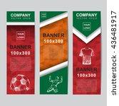 abstract flag colour banner for ... | Shutterstock .eps vector #436481917