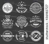 bakery and pastries set of... | Shutterstock .eps vector #436482727