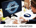 programming program computer...   Shutterstock . vector #436487203