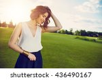 fashion outdoor photo of... | Shutterstock . vector #436490167