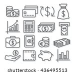money line icons | Shutterstock . vector #436495513