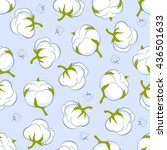 seamless pattern with cotton... | Shutterstock .eps vector #436501633