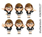 cute set   set of... | Shutterstock .eps vector #436503127