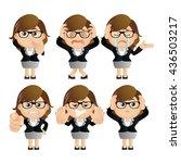 cute set   set of... | Shutterstock .eps vector #436503217