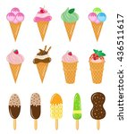 set of different ice cream  ice ... | Shutterstock .eps vector #436511617