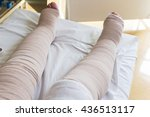 bandages legs and manual... | Shutterstock . vector #436513117